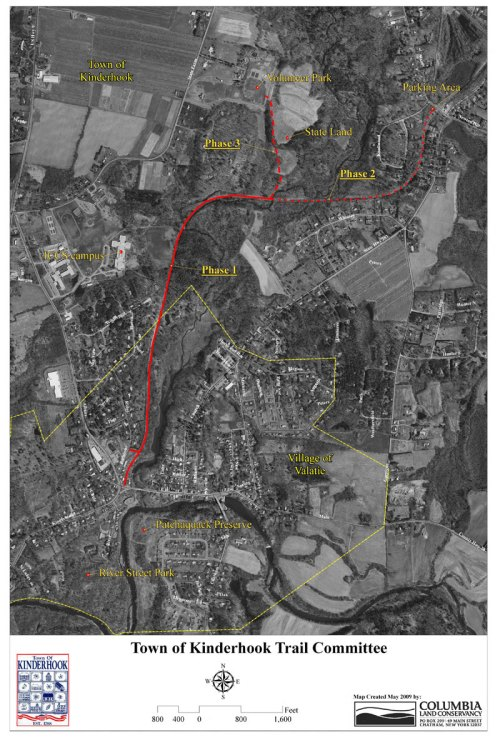 aerial view of 3 phases of kinderhook trail